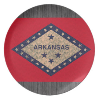 Vintage Pattern Arkansan Flag Party Plates