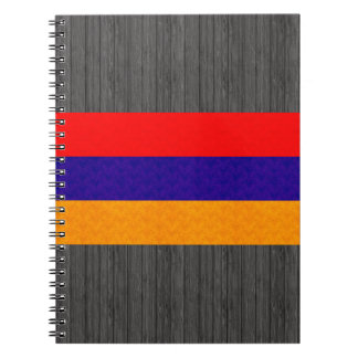Vintage Pattern Armenian Flag Spiral Notebook