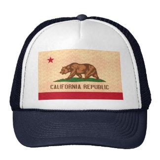 Vintage Pattern Californian Flag Trucker Hats