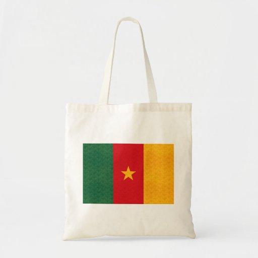 Vintage Pattern Cameroonian Flag Tote Bag