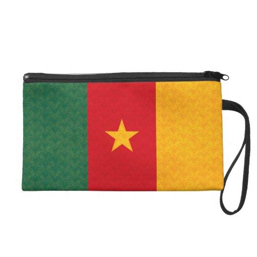 Vintage Pattern Cameroonian Flag Wristlet