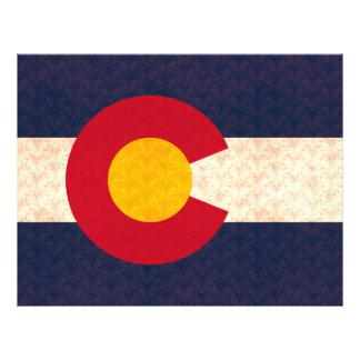 Vintage Pattern Coloradan Flag Flyers
