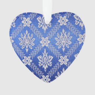 Vintage Pattern Fabric Blue