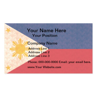 Vintage Pattern Filipino Flag Business Cards
