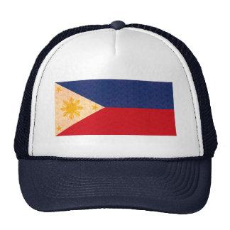 Vintage Pattern Filipino Flag Mesh Hats