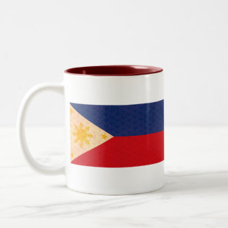 Vintage Pattern Filipino Flag Coffee Mug