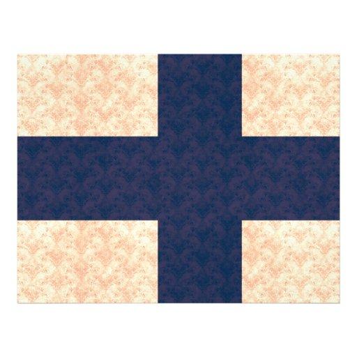 Vintage Pattern Finnish Flag Flyers
