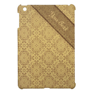 Vintage pattern floral diamonds Sepia (edit) Case For The iPad Mini