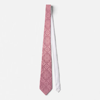 Vintage pattern floral diamonds Soft Pink Tie
