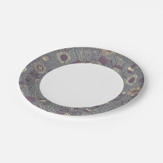 Vintage pattern for stylish wallpapers paper plate