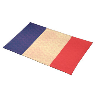 Vintage Pattern French Flag Placemat