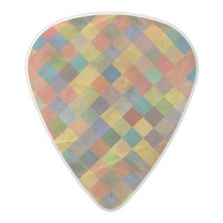 Vintage pattern. Geometric. Acetal Guitar Pick