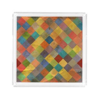 Vintage pattern. Geometric. Acrylic Tray