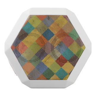 Vintage pattern. Geometric. White Boombot Rex Bluetooth Speaker