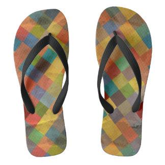 Vintage pattern. Geometric. Flip Flops