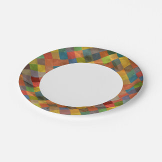 Vintage pattern. Geometric. Paper Plate