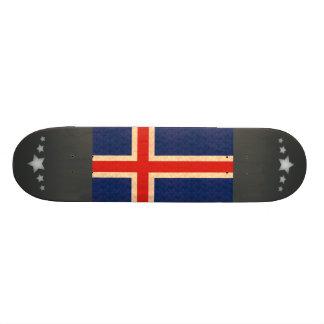 Vintage Pattern Icelander Flag Skate Board
