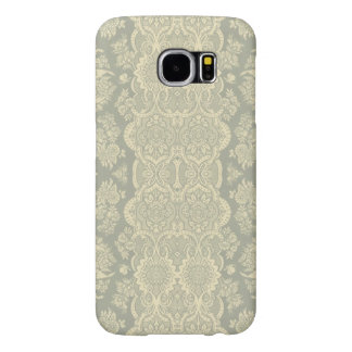 Vintage Pattern in Yellow and Gray Samsung Galaxy S6 Cases