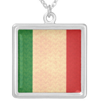 Vintage Pattern Italian Flag Custom Jewelry