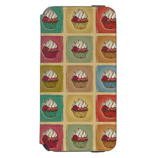 Vintage pattern made of cupcakes incipio watson™ iPhone 6 wallet case