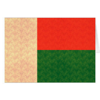 Vintage Pattern Malagasy Flag Card