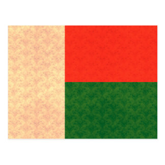 Vintage Pattern Malagasy Flag Post Card
