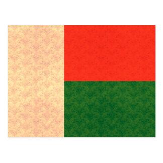 Vintage Pattern Malagasy Flag Postcard