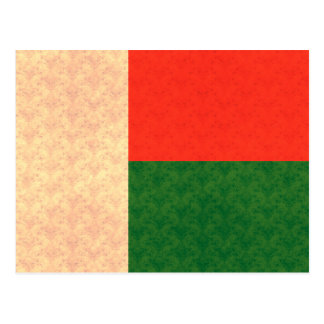 Vintage Pattern Malagasy Flag Post Cards