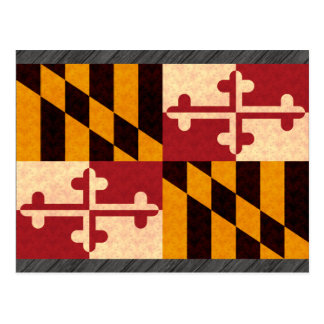 Vintage Pattern Marylander Flag Postcard