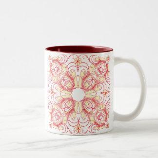 vintage pattern mug