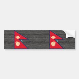 Vintage Pattern Nepalese Flag Bumper Stickers
