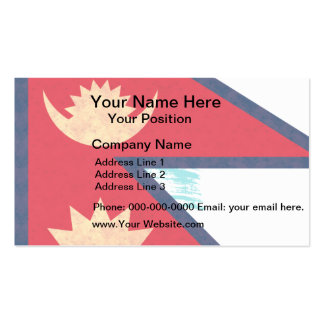 Vintage Pattern Nepalese Flag Business Card Template