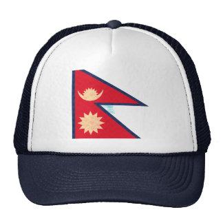 Vintage Pattern Nepalese Flag Hat
