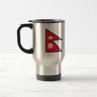 Vintage Pattern Nepalese Flag Mug
