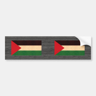 Vintage Pattern Palestinian Flag Car Bumper Sticker