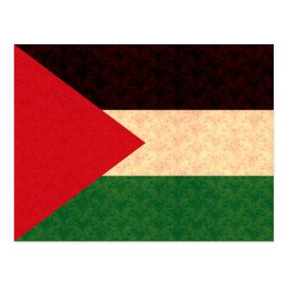 Vintage Pattern Palestinian Flag Postcard