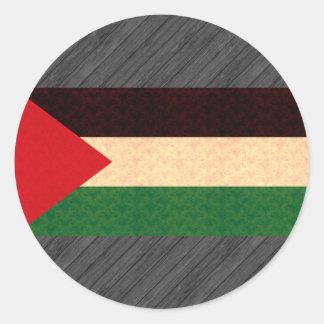 Vintage Pattern Palestinian Flag Round Sticker