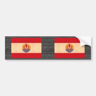 Vintage Pattern Polynesian Flag Bumper Sticker