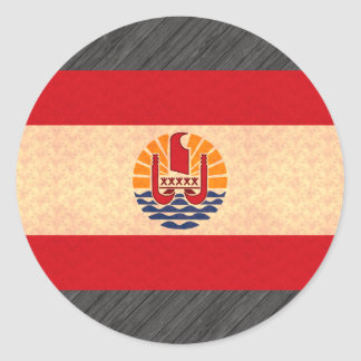 Vintage Pattern Polynesian Flag Stickers