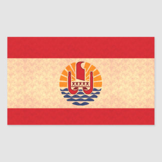 Vintage Pattern Polynesian Flag Rectangular Stickers