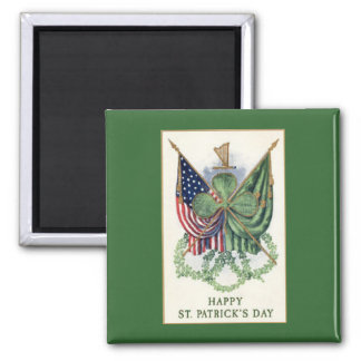 Vintage Pattern St. Patrick's Day Fridge Magnet