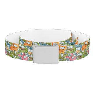 Vintage pattern with cartoon animals belt