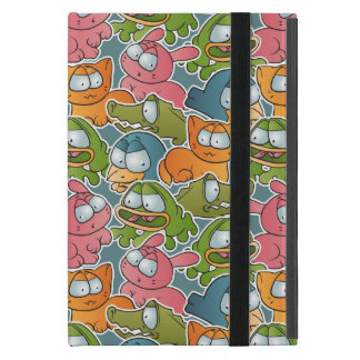 Vintage pattern with cartoon animals cover for iPad mini