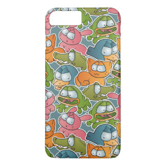 Vintage pattern with cartoon animals iPhone 8 plus/7 plus case