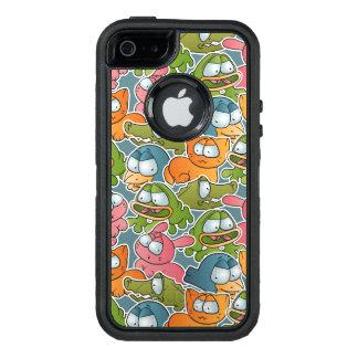 Vintage pattern with cartoon animals OtterBox defender iPhone case
