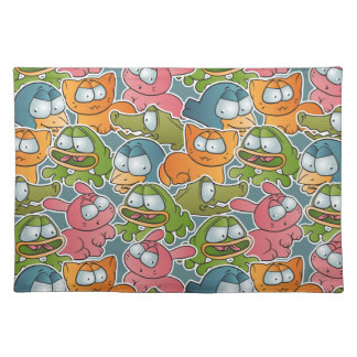 Vintage pattern with cartoon animals placemat