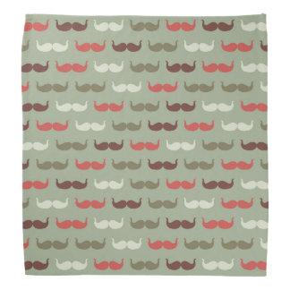 Vintage pattern with mustache bandana