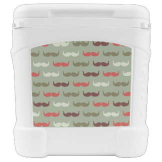 Vintage pattern with mustache cooler