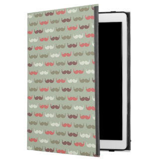 "Vintage pattern with mustache iPad pro 12.9"" case"