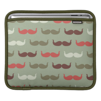 Vintage pattern with mustache iPad sleeve